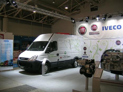 Stand de Iveco durante la 12ª Feria Mundial de vehículos de gas, celebrada en Roma, en mayo pasado