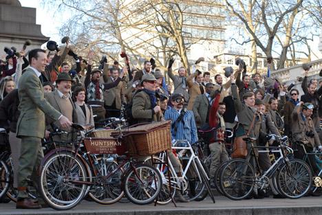 Celebración de una de las Tweed Ride que han tenido lugar en diferentes ciudades del mundo
