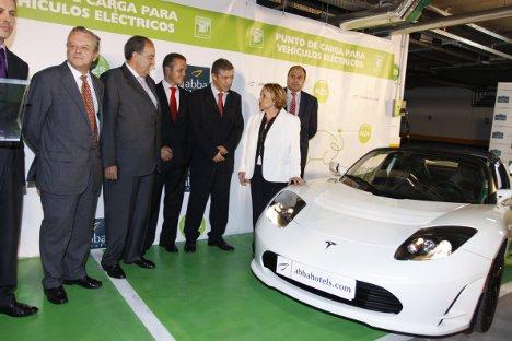 La inauguración más reciente de puntos de recarga de N2S tuvo lugar en el hotel Abba Playa de Gijón, el pasado 24 de septiembre, que contó con la presencia de la alcaldesa de la ciudad, Paz Fernández Felgueroso