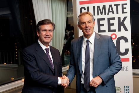Unda y el ex primer ministro británico Tony Blair coincidieron en la Semana del Clima de Nueva York