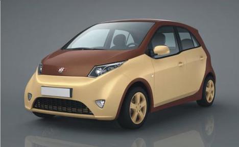 Uno de los modelos Ë-Mobile de vehículo híbrido presentados en Rusia