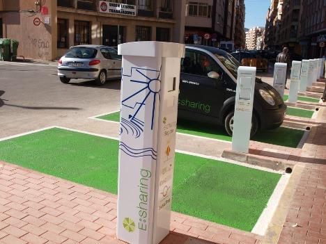 E:Sharing es el único servicio de carsharing con vehículos eléctricos en España que dispone de puntos de recarga en vía pública