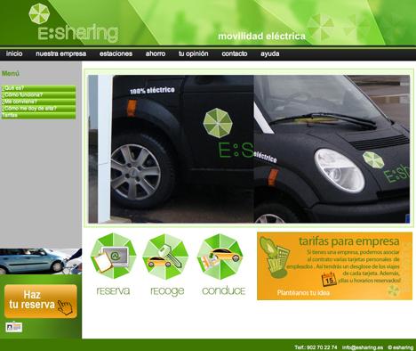 Página web operativa para los usuarios del servicio de E:Sharing
