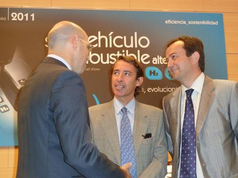De izquierda a derecha, Carlos Martín Tobalina (Junta de Castilla y León), Alfonso Beltrán (IDAE) y Carlos Escudero (Feria de Valladolid)