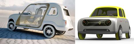 De izquierda a derecha, segundo y tercer premio del concurso Renault4Ever