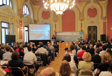 Vista general del Salón donde se celebro la Jornada 'Smart Cities de IDC'