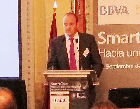 David Bueno Vallejo, Gerente del Centro Municipal de Informática del Ayuntamiento de Málaga en la Jornada Smart Cities de la IDC