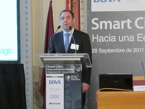 Juan Miguel Aguilar, Director Sage Aytos, Sage División Administraciones Públicas en las Jornadas de Samrt Cities de IDC