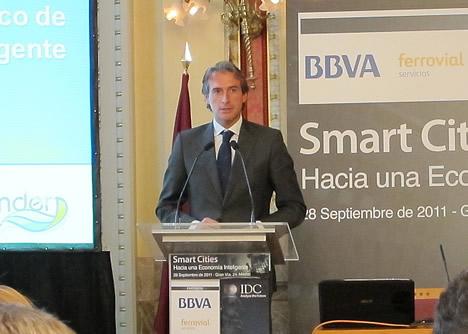 Iñigo de la Serna Hernáiz Alcalde del Ayuntamiento de Santander en la Jornada de Smart Cities de IDC