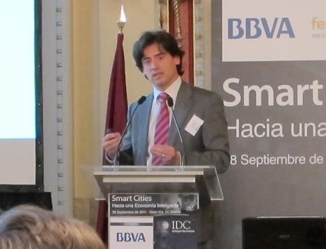 Jorge Martín García, Gerente de M2M y Soluciones Sectoriales, de Telefonica Spain en la Jornada Smart CIties IDC