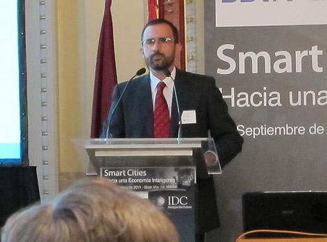 Antoni Brey Rodríguez, Director General de URBIOTICA en la Jornada Smart Cities de IDC