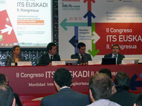 Presentación del II Congreso ITS (Sistemas Inteligentes de Transporte) de Euskadi, organizado por el Clúster de Movilidad y Logística de Euskadi.