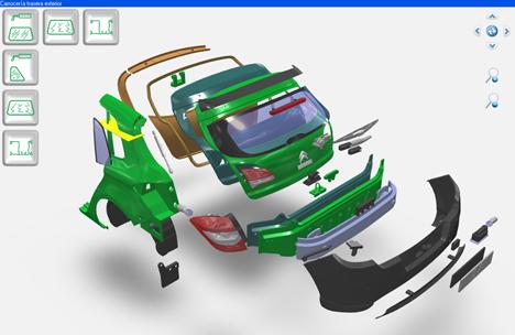 Audatex incorpora gráficos tridimensionales que facilitan la reparación del vehículo.