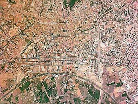Vista aerea del centro de Granada