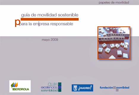 Portada de la Guia de la Movilidad Sostenible para Empresas responsables