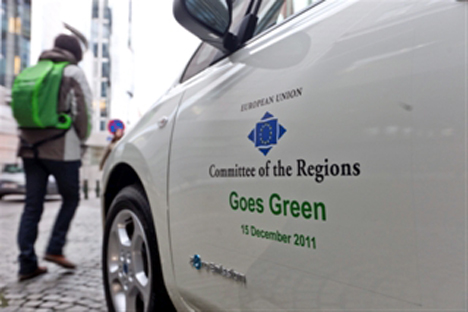 El Nisssan Leaf para el Comite de las Regiones de la UE