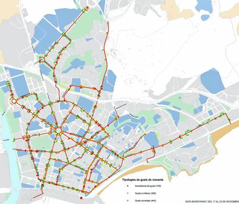 El peaton en el PMUS de Tarragona