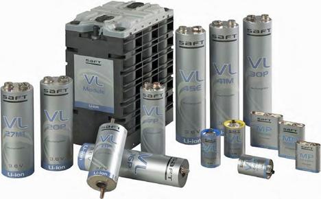Bateria fabricadas por Saft