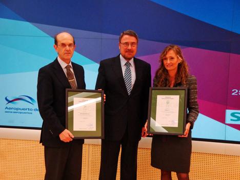 Acto de entrega del certificado AENOR: sistema de gestion energetica