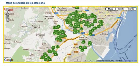 Localización de las estaciones bicibox