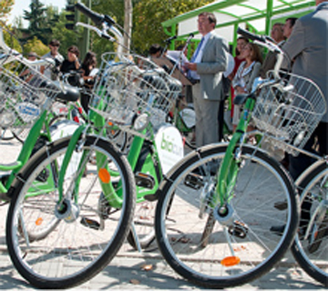 Bicicum en el campus Moncloa