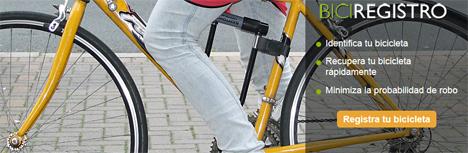 web del Registro Nacional de Bicicletas