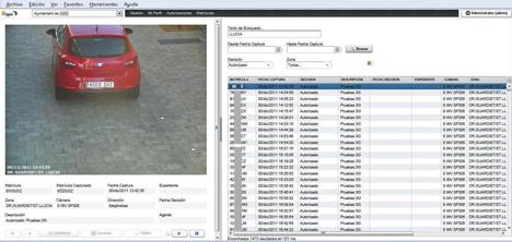 Captura de pantalla del sistema ARGOS