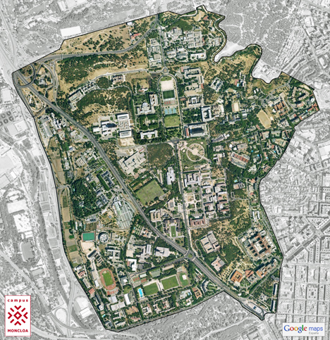 Mapa del Campus Moncloa