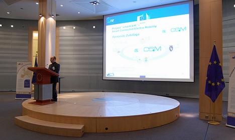Presentacion de smartCem en el Parlamento Europeo. ©Cluster Movilidad y Logistica MLC ITS Euskadi