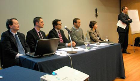 Nicolás Lecat (EPTISA), Mikel Larrea (EROSKI), Ibán García de Andoain (AZKAR), Iñigo Palenzuela(IVL-LEE), Rita Álvarez (NAVTEQ / NOKIA) y Eduardo Zapata (CITET)