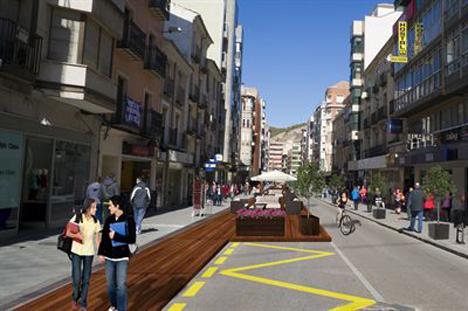 Peatonalización de la zona centro de Cuenca