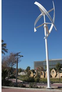 Microturbinas eólicas en Smartcity Málaga