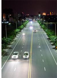 Iluminación LED en una carretera
