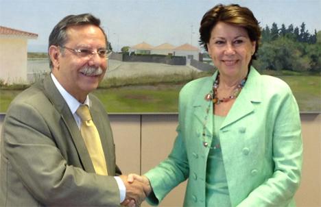 José Folgado, presidente de Red Eléctrica junto a Magdalena Álvarez, vicepresidenta del Banco Europeo de Inversiones