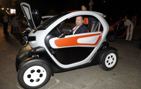 Probando el funcionamiento del Renault Twizy