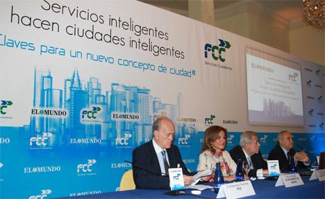 Ana Botella, alcaldesa de Madrid, durante el encuentro