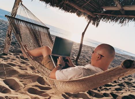Conexión Wi-Fi en la playa