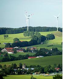 Molinos de viento en Wildpoldsried, donde se está poniendo a prueba el proyecto IRENE.