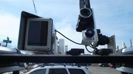 Sistema de cámaras del vehículo que ha recorrido las calles de Santander evaluando el alumbrado público.