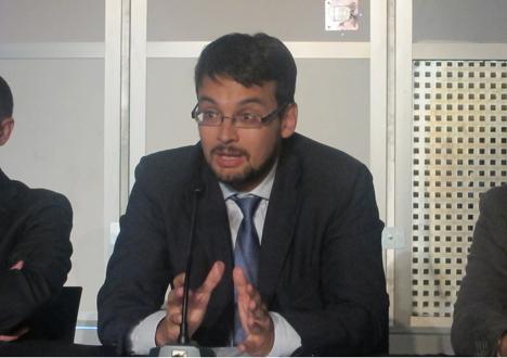 Santiago González, del departamento de Transporte de IDAE