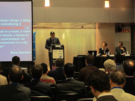 Rafael Achaerandio, de IDC, en la presentación del II Informe sobre Smart Cities, el viaje hacia la ciudad inteligente.