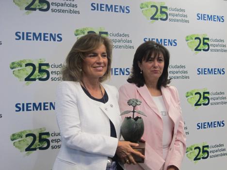 Madrid recibe el premio a la ciudad más sostenible.