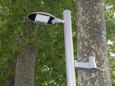 Farolas del nuevo alumbrado LED y con sensores de movimiento de Vitoria.