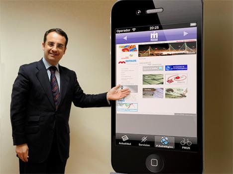 Alberto Rodríguez de Rivera, Primer Teniente de Alcalde de Móstoles, presentado el modelo Móstoles Smart City.
