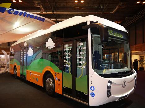 Autobús híbrido de Repsol y Castrosua