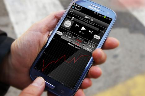 """""""la Caixa"""" Stock Music, aplicación para seguir el comportamiento de la bolsa."""