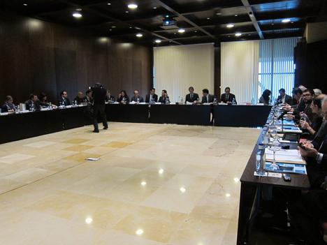 Reunión mantenida por la Junta Directiva de la RECI, en el marco del Salón Greencities y Sostenibilidad, en Málaga.