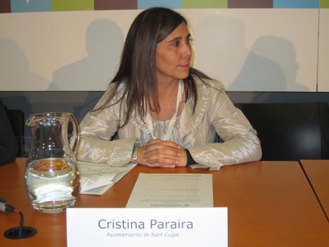 Cristina Paraira, del Ayuntamiento de Sant Cugat.