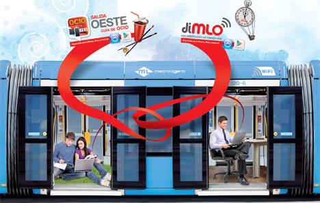 "Campaña ""Vayas donde vayas, conectamos contigo"" de Metro Ligero Oeste."