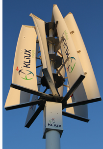Aerogenerador de eje vertical de Kliux